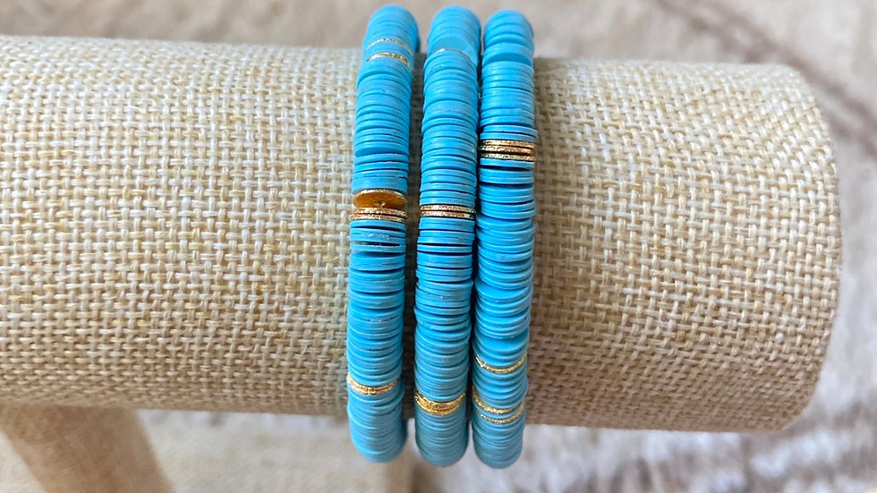 Blue vinyl bracelet
