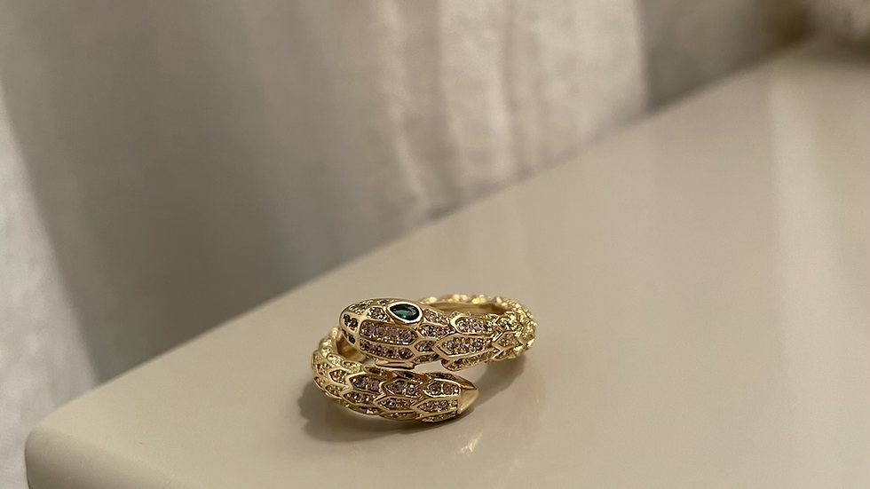 Large snake head ring
