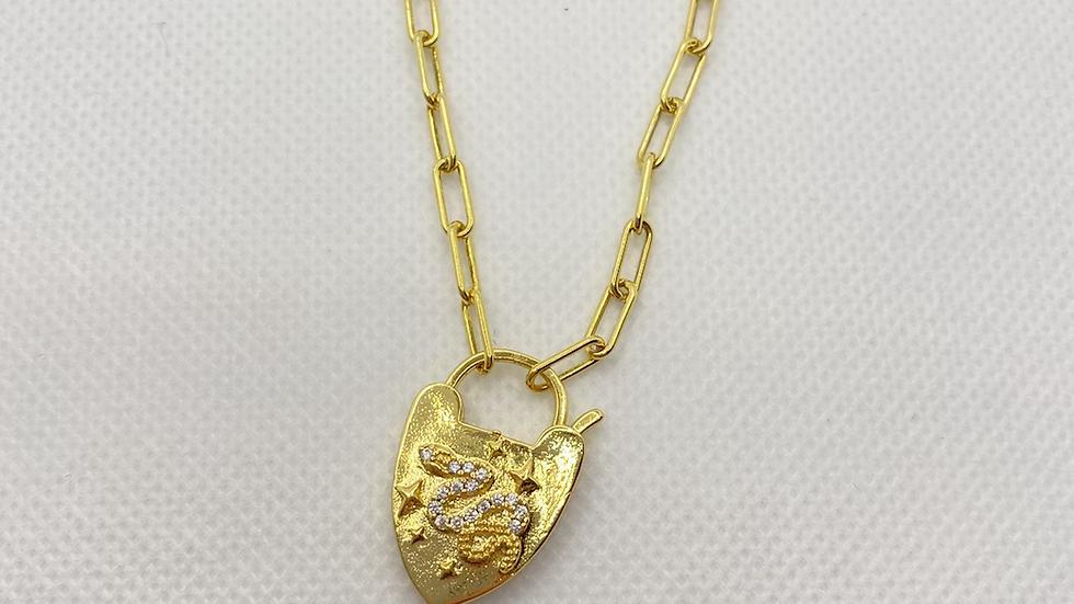 Snake lock necklace