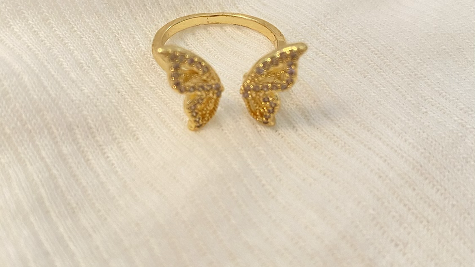 Half Butterfly ring