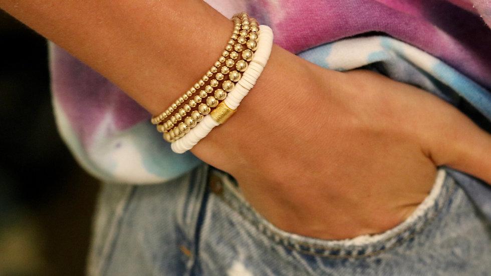 White Vinyl Bracelet