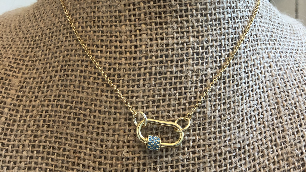 Small Paperclip Necklace