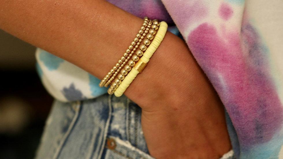 Yellow Vinyl Bracelet