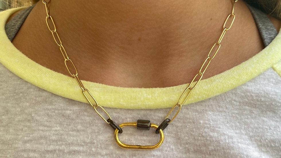 Multicolor paperclip necklace