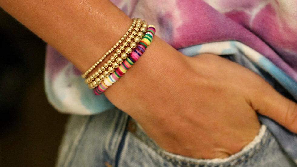Classic Rainbow Vinyl Bracelet