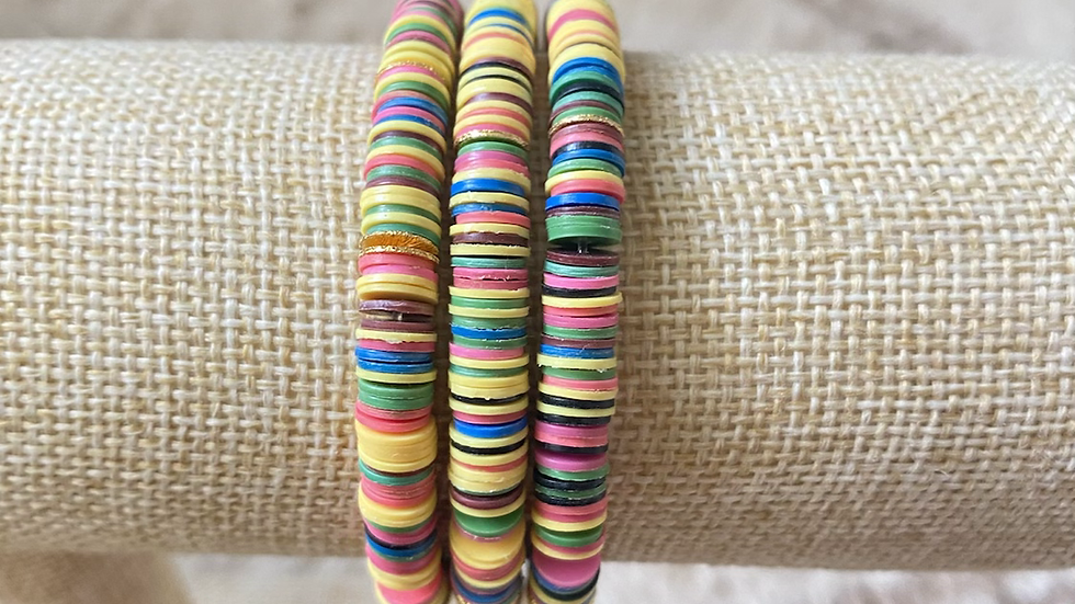 Rainbow vinyl bracelet