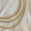 Thumbnail: 4mm Gold Beaded Necklace