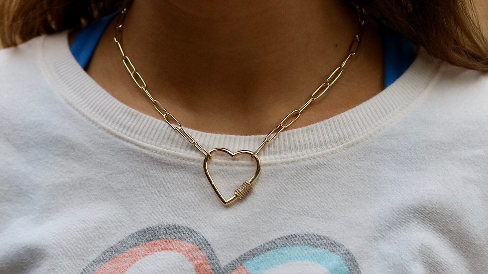 Big Heart Chain Necklace