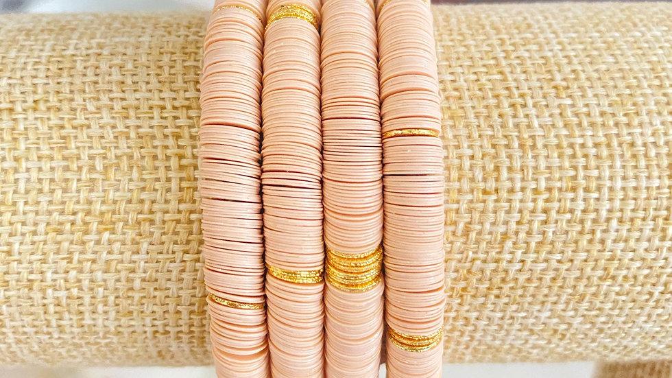 Beige vinyl bracelet