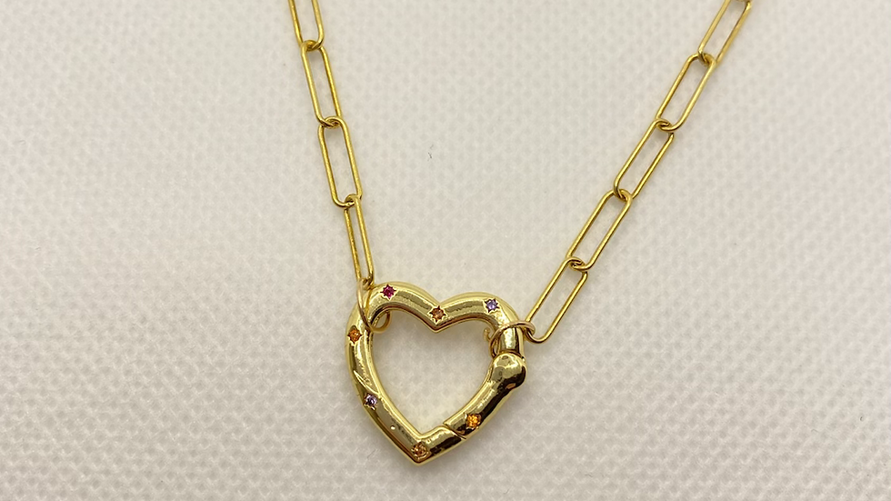 Into the sky heart necklace