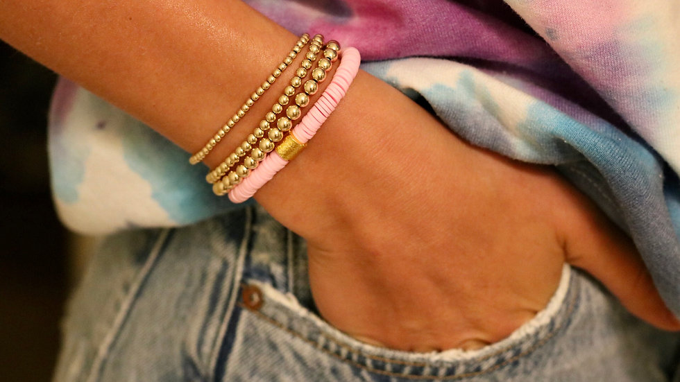 Light Pink Vinyl Bracelet