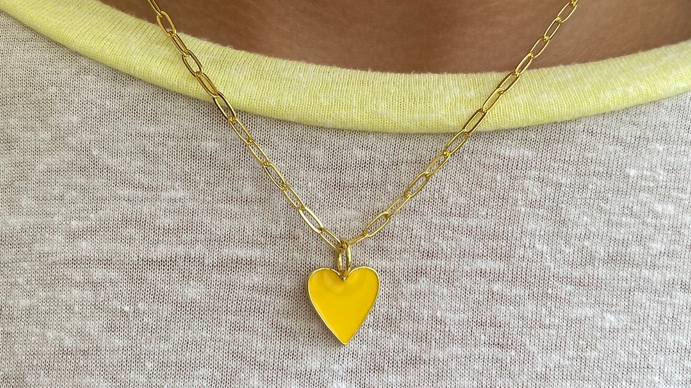 Small Heart Color Necklace