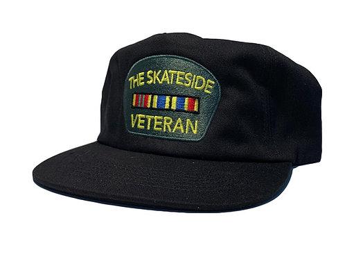 GREEN ON BLACK VETERAN HAT