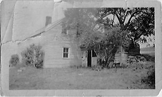 White Chimneys home rear view circa 1910.