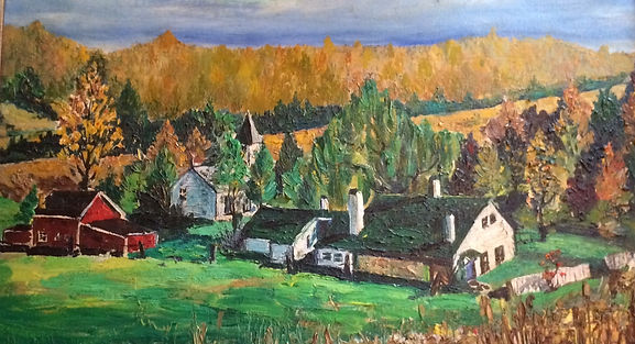 Painting of White Chimneys Farm