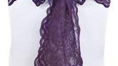 Eggplant Lace Chair Sashes