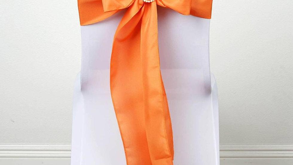 Orange Polyester Chair Sash
