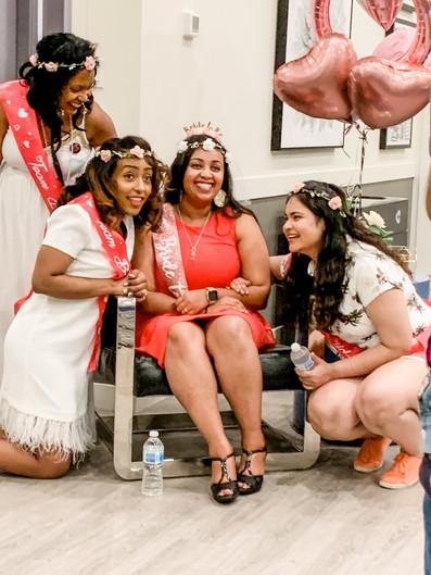 Rodas and her bridesmaids
