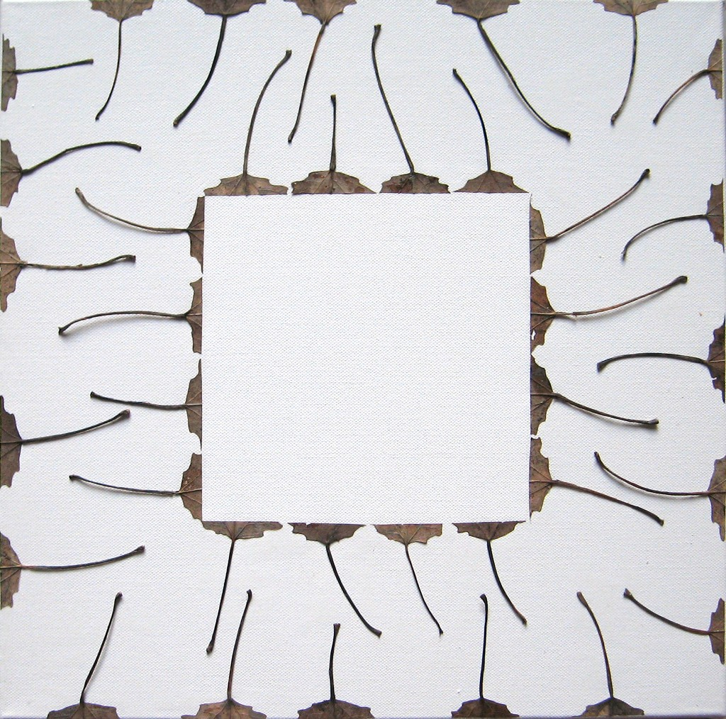 Haavan lehdet 2008 (40cmx40cm)