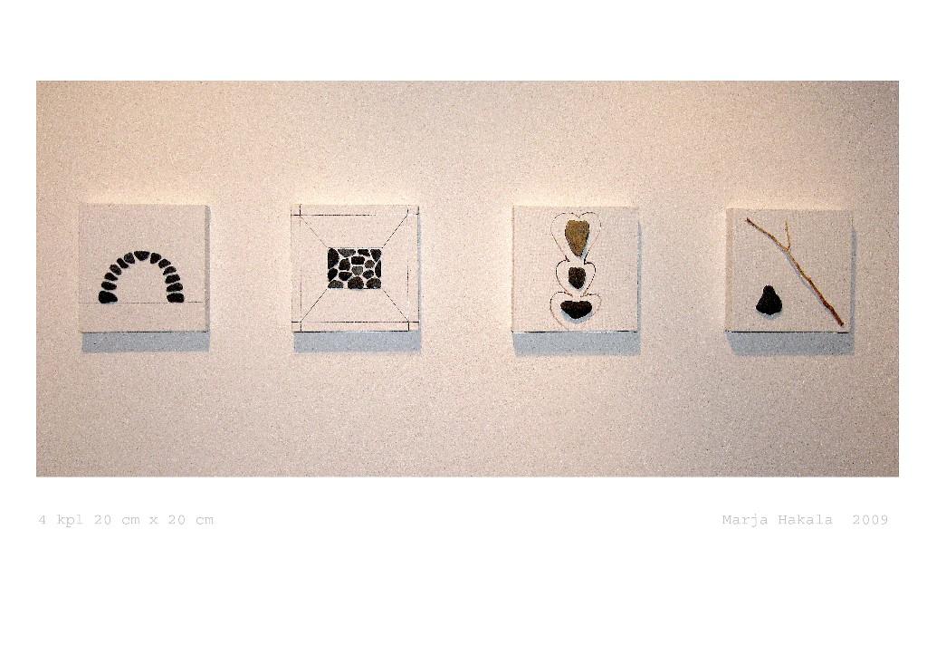 Pienet kivityöt 2009 (4x20cmx20cm)