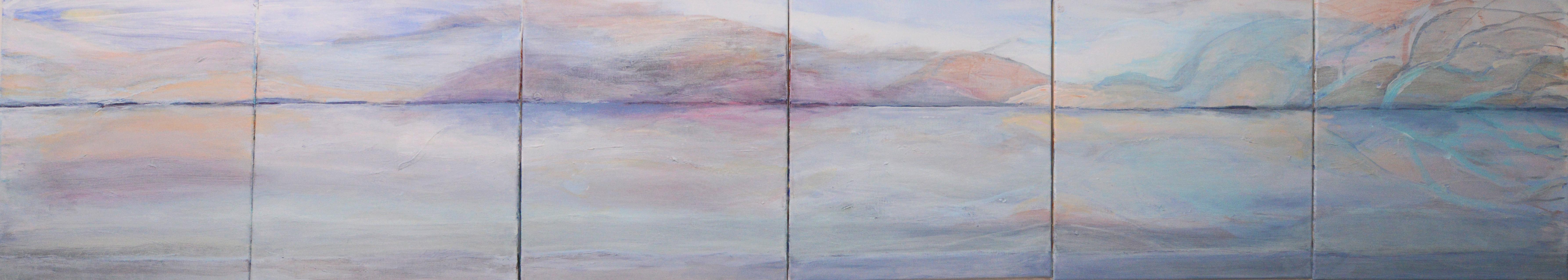 Kuviteltu maisema 2018 (6x40cmx40cm)