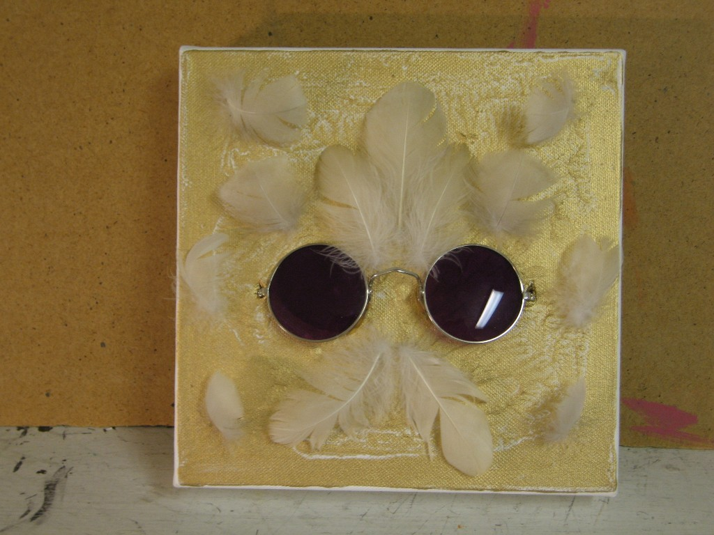 Vanha hippi 2006 (20cmx20cm)