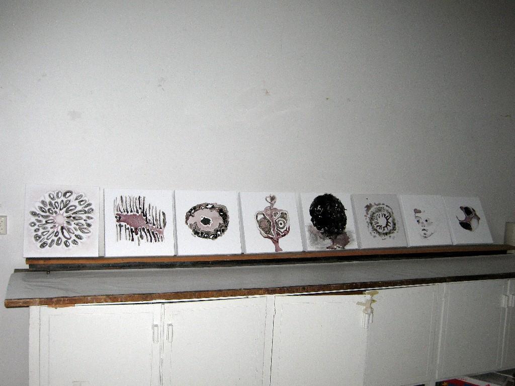 Tuhkamaalauksia 2008 (40cmx40cm)