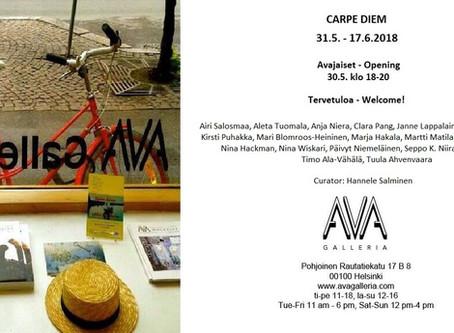 """Näyttely: """"CARPE DIEM"""" 31.5.-17.6.2018"""