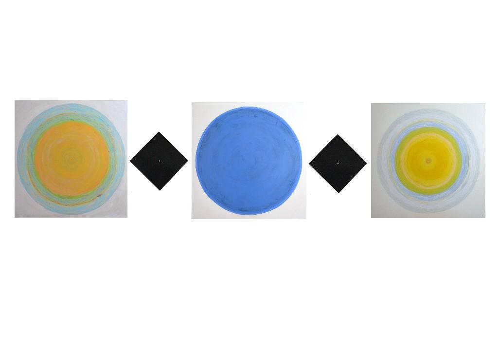 Maalaus 2012 (1mx1m+40cmx40cm+1m jne