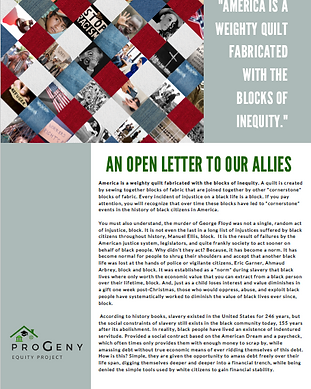 An Open Letter To Our Allies
