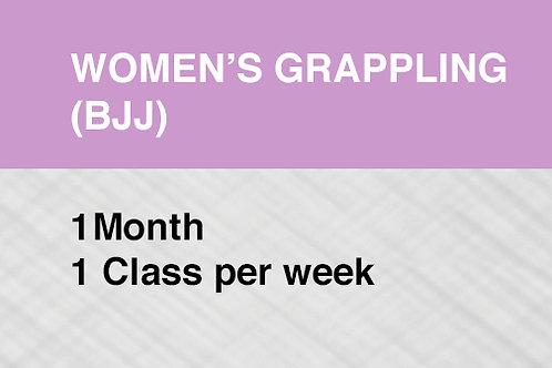 Women's Grappling (BJJ) 1 Month / 1 Class per Week