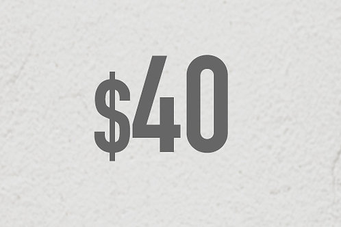 $40 DONATION