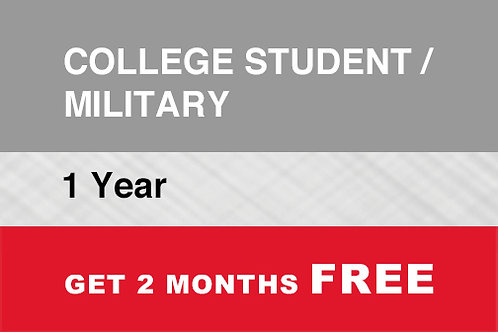 1 College student / Military 1 year