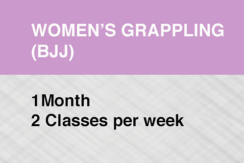 Women's Grappling (BJJ) 1 Month / 2 Classes per Week