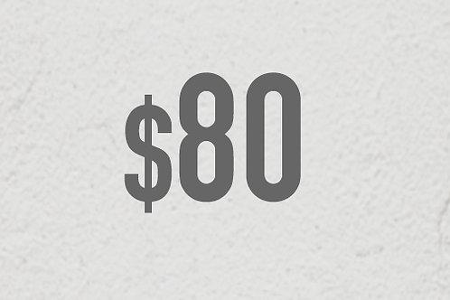 $80 DONATION