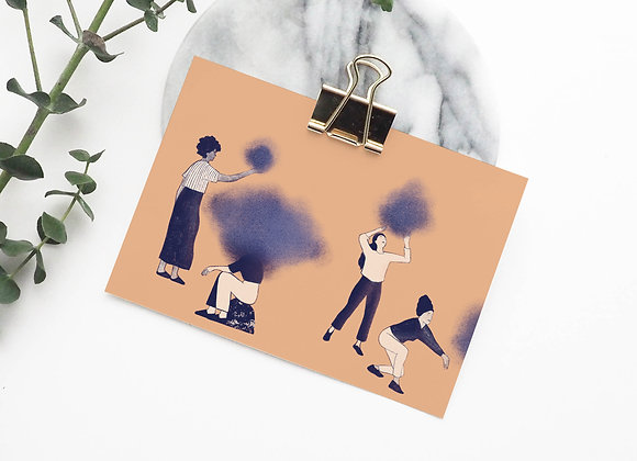 Postkaart: Samen in gedachten