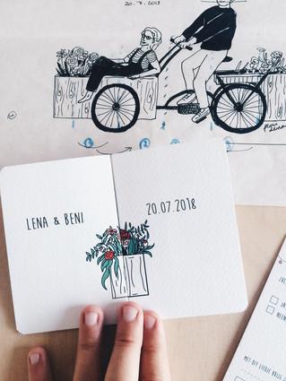 Trouwkaartje Lena & Beni
