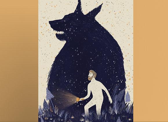 Print: wolf