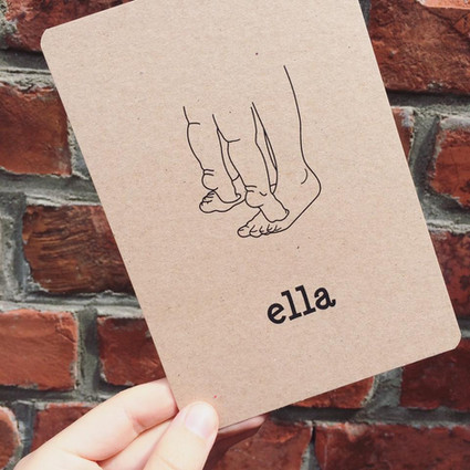 Ella - pentekening op karton