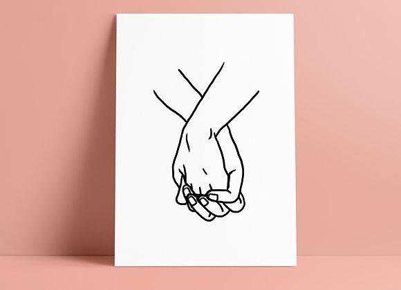 Print: hands