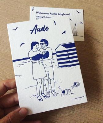Aude - letterpress