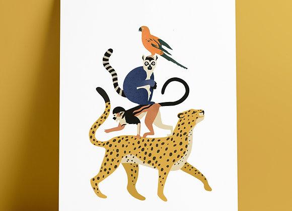 Print: stapel dieren (Nieuw!)