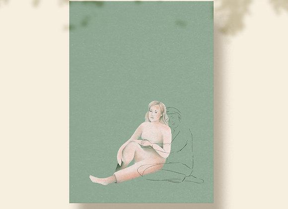 Postkaart: Knuffel - je bent niet alleen