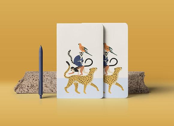 Notebook: stapel dieren
