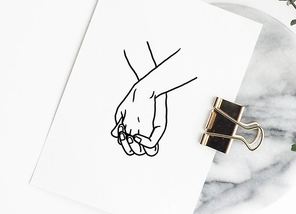 Postkaart: hands (incl omslag)