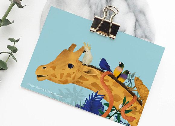 Postkaart: giraf (soft touch)