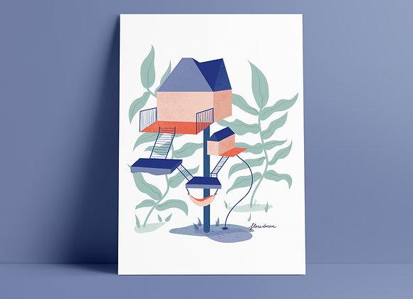 Print: boomhut