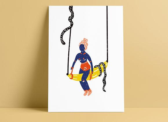 Print: banana girl