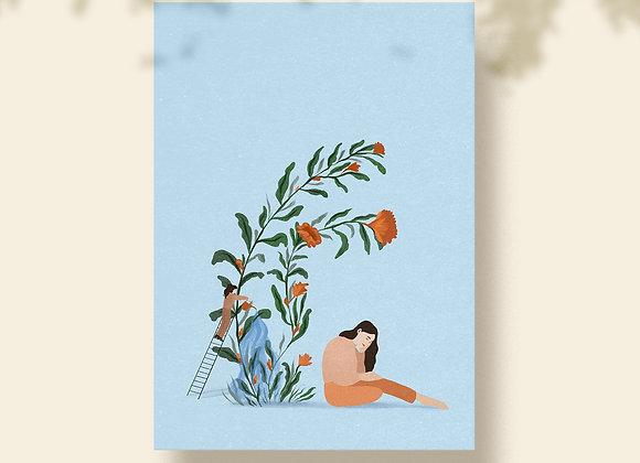 Postkaart: Bloemen