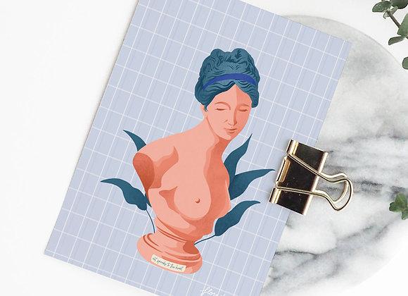 Postkaart: Art speaks to the heart